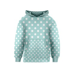 Blue And White Polka Dots Kid s Pullover Hoodies