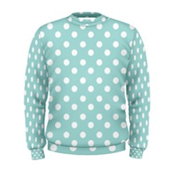 Blue And White Polka Dots Men s Sweatshirts