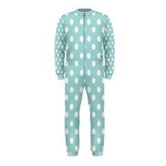 Blue And White Polka Dots OnePiece Jumpsuit (Kids)