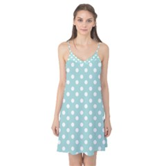 Blue And White Polka Dots Camis Nightgown