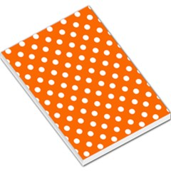 Orange And White Polka Dots Large Memo Pads