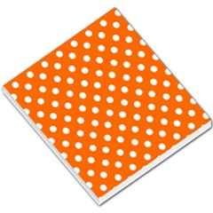 Orange And White Polka Dots Small Memo Pads