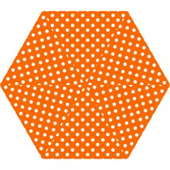 Orange And White Polka Dots Mini Folding Umbrellas