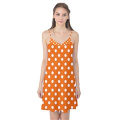 Orange And White Polka Dots Camis Nightgown