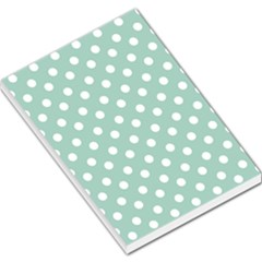 Light Blue And White Polka Dots Large Memo Pads