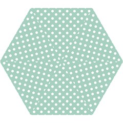Light Blue And White Polka Dots Mini Folding Umbrellas