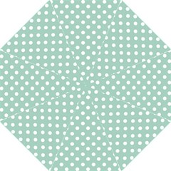 Light Blue And White Polka Dots Hook Handle Umbrellas (large)