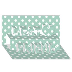 Light Blue And White Polka Dots Best Friends 3d Greeting Card (8x4)
