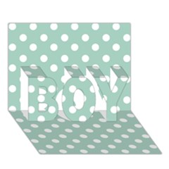Light Blue And White Polka Dots Boy 3d Greeting Card (7x5)