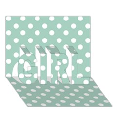 Light Blue And White Polka Dots Girl 3d Greeting Card (7x5)