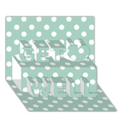 Light Blue And White Polka Dots Get Well 3d Greeting Card (7x5)