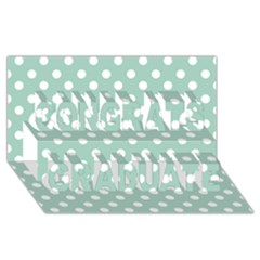 Light Blue And White Polka Dots Congrats Graduate 3D Greeting Card (8x4)