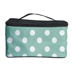 Light Blue And White Polka Dots Cosmetic Storage Cases