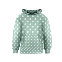 Light Blue And White Polka Dots Kid s Pullover Hoodies
