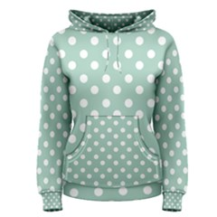 Light Blue And White Polka Dots Women s Pullover Hoodies