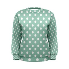 Light Blue And White Polka Dots Women s Sweatshirts