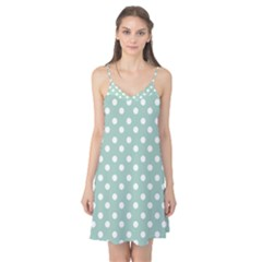 Light Blue And White Polka Dots Camis Nightgown