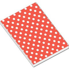 Indian Red Polka Dots Large Memo Pads
