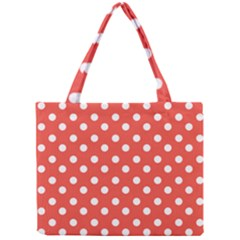 Indian Red Polka Dots Tiny Tote Bags
