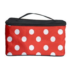 Indian Red Polka Dots Cosmetic Storage Cases