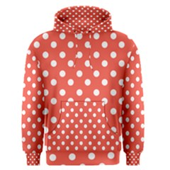 Indian Red Polka Dots Men s Pullover Hoodies