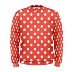 Indian Red Polka Dots Men s Sweatshirts