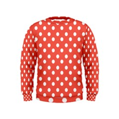 Indian Red Polka Dots Boys  Sweatshirts