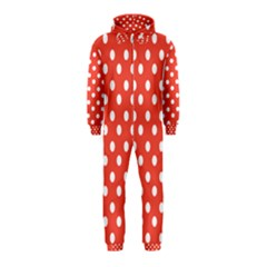 Indian Red Polka Dots Hooded Jumpsuit (Kids)