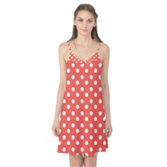 Indian Red Polka Dots Camis Nightgown