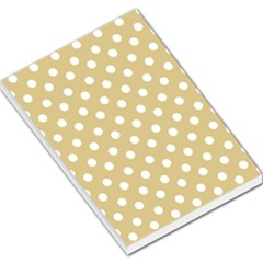 Mint Polka And White Polka Dots Large Memo Pads