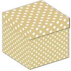 Mint Polka And White Polka Dots Storage Stool 12