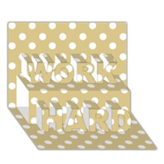 Mint Polka And White Polka Dots WORK HARD 3D Greeting Card (7x5)