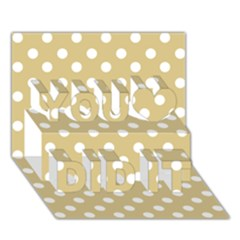 Mint Polka And White Polka Dots You Did It 3D Greeting Card (7x5)