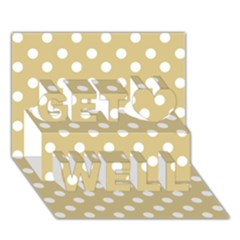 Mint Polka And White Polka Dots Get Well 3d Greeting Card (7x5)