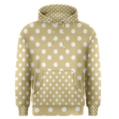 Mint Polka And White Polka Dots Men s Pullover Hoodies