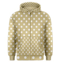 Mint Polka And White Polka Dots Men s Zipper Hoodies