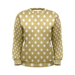 Mint Polka And White Polka Dots Women s Sweatshirts