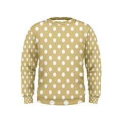 Mint Polka And White Polka Dots Boys  Sweatshirts