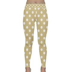 Mint Polka And White Polka Dots Yoga Leggings