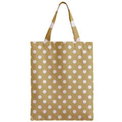Mint Polka And White Polka Dots Zipper Classic Tote Bags