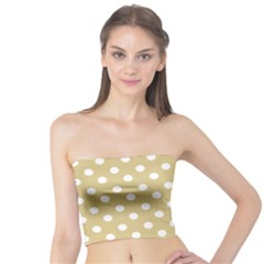Mint Polka And White Polka Dots Women s Tube Tops