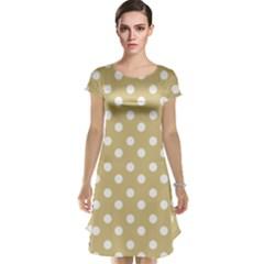 Mint Polka And White Polka Dots Cap Sleeve Nightdresses