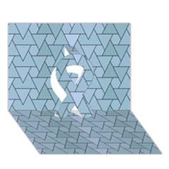 Geo Fun 7 Light Blue Ribbon 3D Greeting Card (7x5)