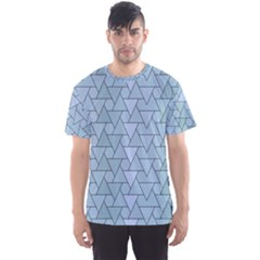 Geo Fun 7 Light Blue Men s Sport Mesh Tees