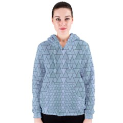 Geo Fun 7 Light Blue Women s Zipper Hoodies
