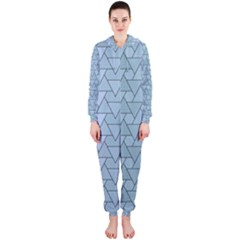 Geo Fun 7 Light Blue Hooded Jumpsuit (Ladies)