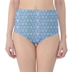 Geo Fun 7 Light Blue High-Waist Bikini Bottoms