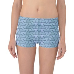 Geo Fun 7 Light Blue Reversible Boyleg Bikini Bottoms