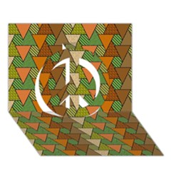 Geo Fun 7 Warm Autumn  Peace Sign 3D Greeting Card (7x5)