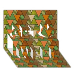 Geo Fun 7 Warm Autumn  Get Well 3d Greeting Card (7x5)
